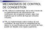 mecanismos de control de congestion