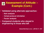 assessment of attitude example cont