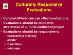 culturally responsive evaluations