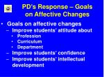 pd s response goals on affective changes