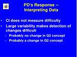 pd s response interpreting data