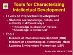 tools for characterizing intellectual development