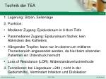technik der tea