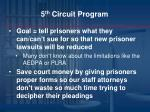 5 th circuit program1