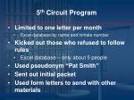 5 th circuit program2