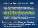 johnson v avery 393 u s 483 1969