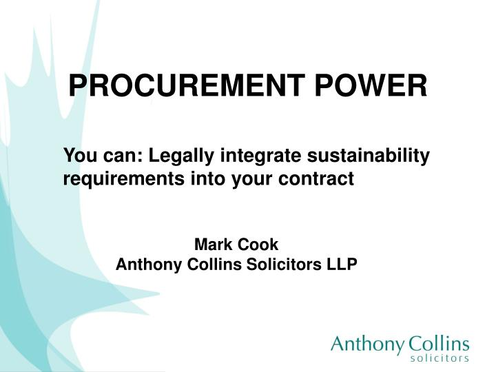 procurement power n.