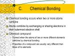 c chemical bonding
