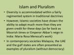 islam and pluralism
