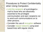 procedures to protect confidentiality when using computers1
