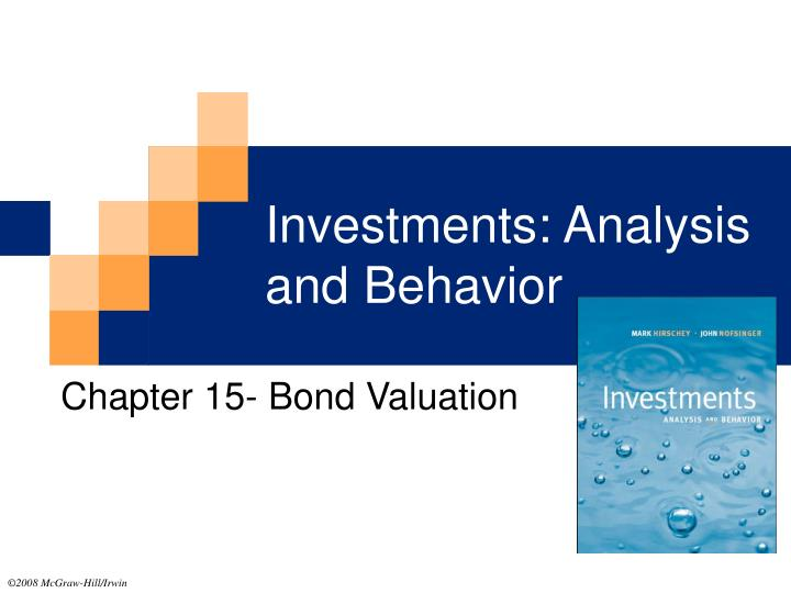 investments analysis and behavior n.