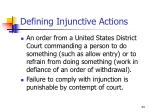 defining injunctive actions