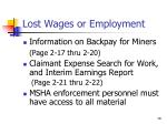 lost wages or employment