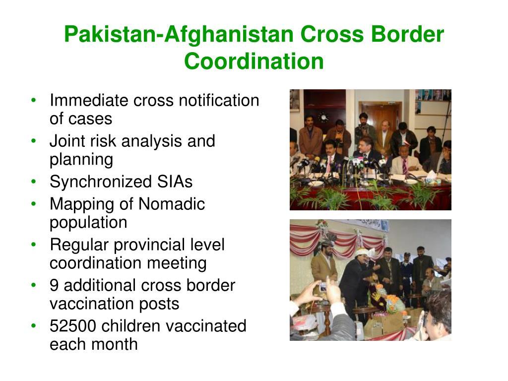 Pakistan-Afghanistan Cross Border Coordination