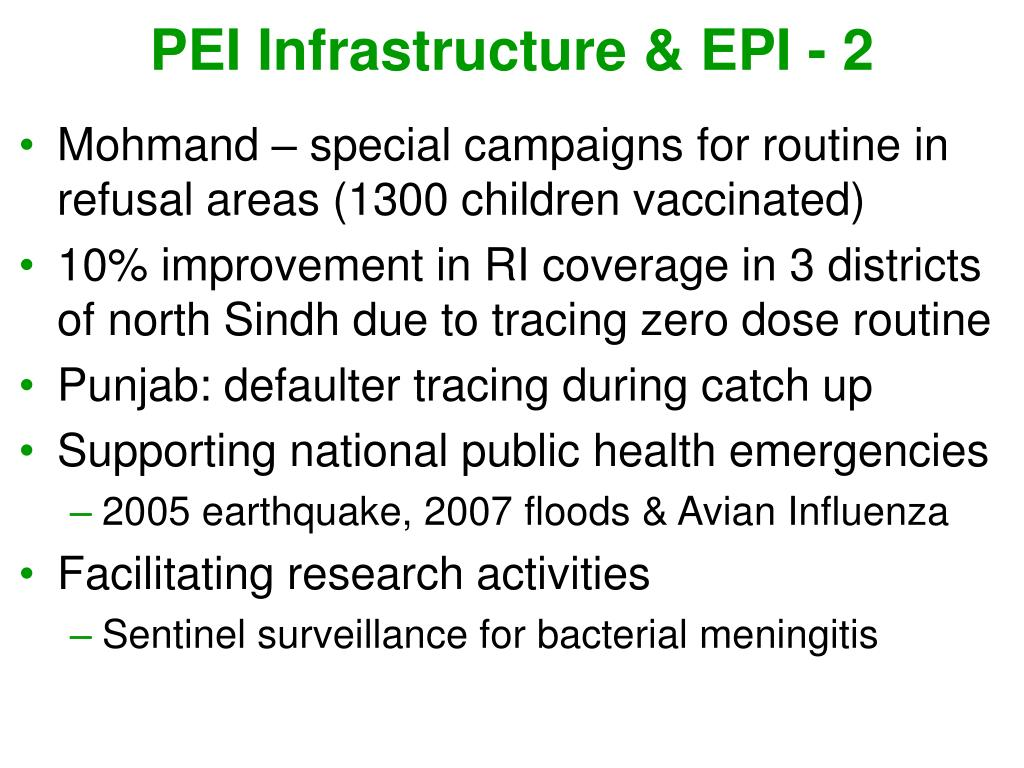 PEI Infrastructure & EPI - 2