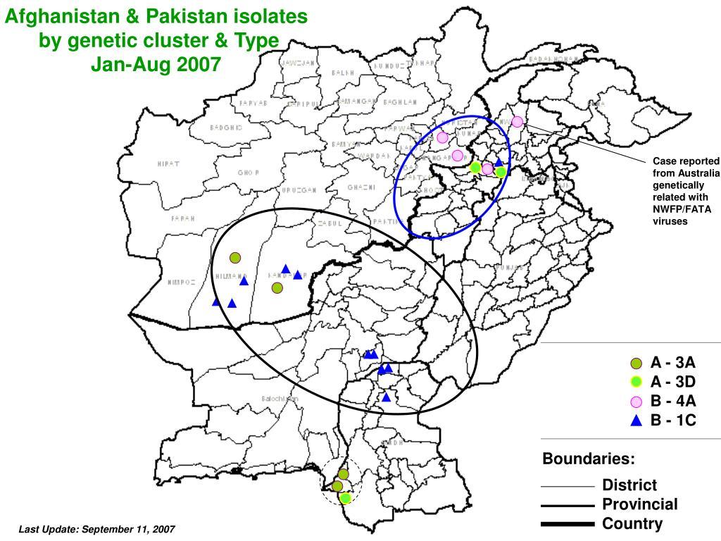 Afghanistan & Pakistan isolates