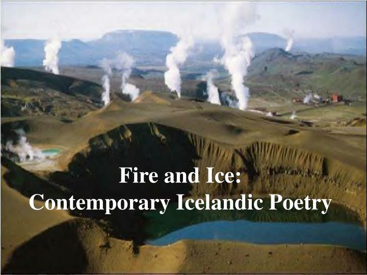 fire and ice contemporary icelandic poetry n.