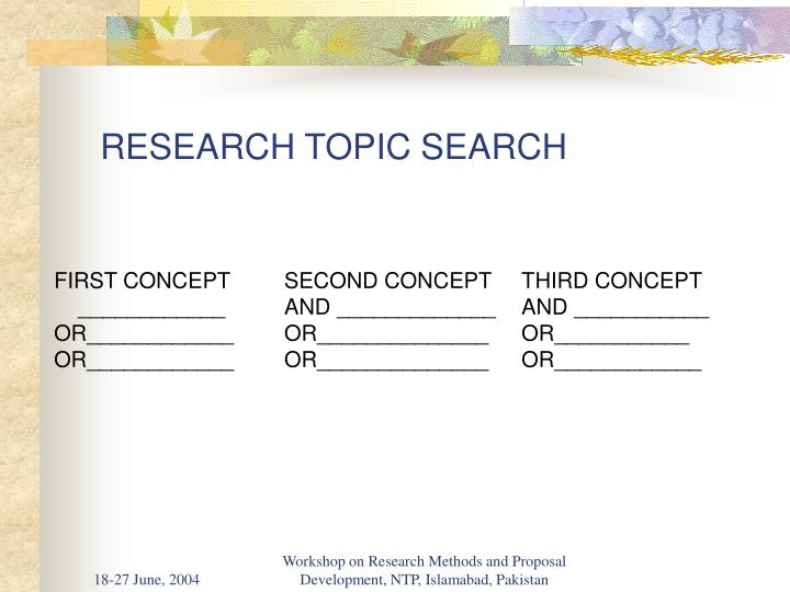 Research topic search