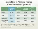 inequalities in national finance commission nfc awards