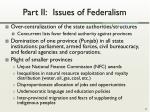 part ii issues of federalism