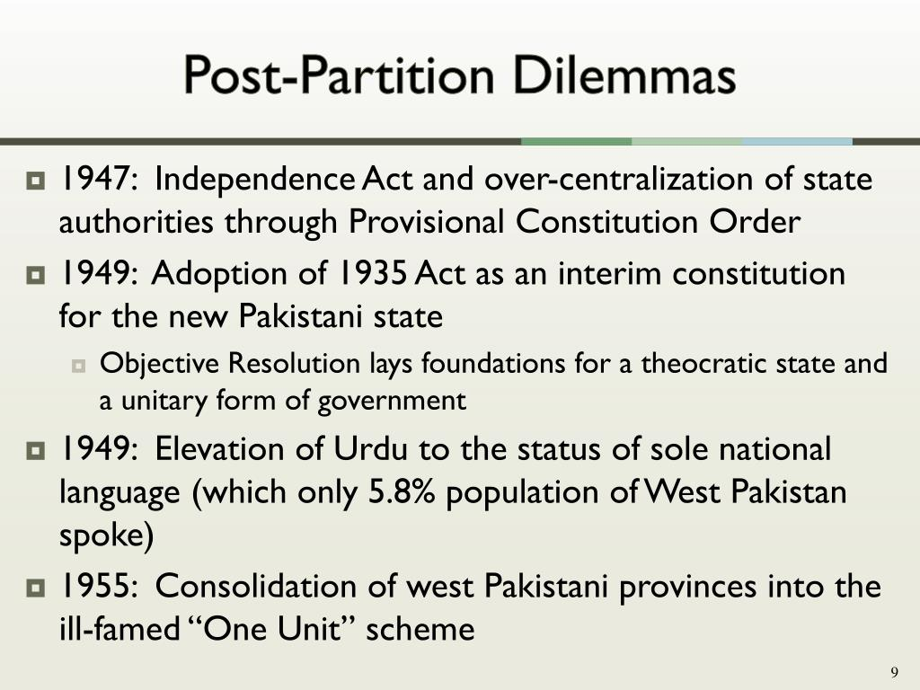 PPT - The Crisis of Federalism and Prospects for Provincial Autonomy