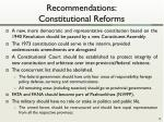 recommendations constitutional reforms
