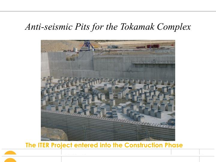 Anti-seismic Pits for the