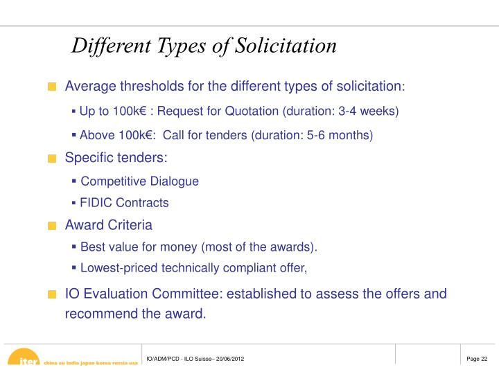 Different Types of Solicitation