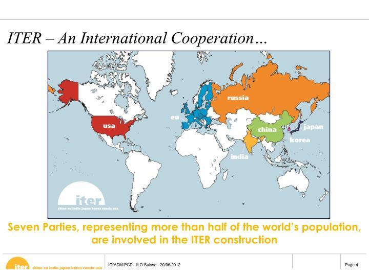 ITER – An International Cooperation…