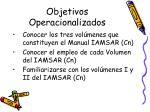objetivos operacionalizados