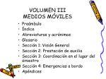 volumen iii medios m viles