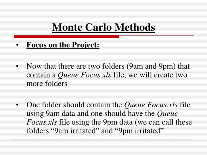 monte carlo methods n.