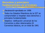 derechos y principios fundamentales en el trabajo