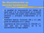 no discriminaci n un derecho fundamental