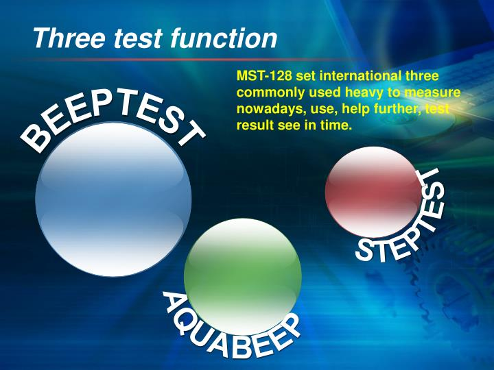 Three test function