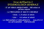 virus dell epatite c epidemiologia generale