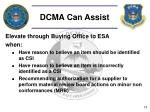 dcma can assist