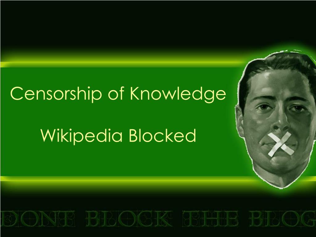 Censorship of Knowledge
