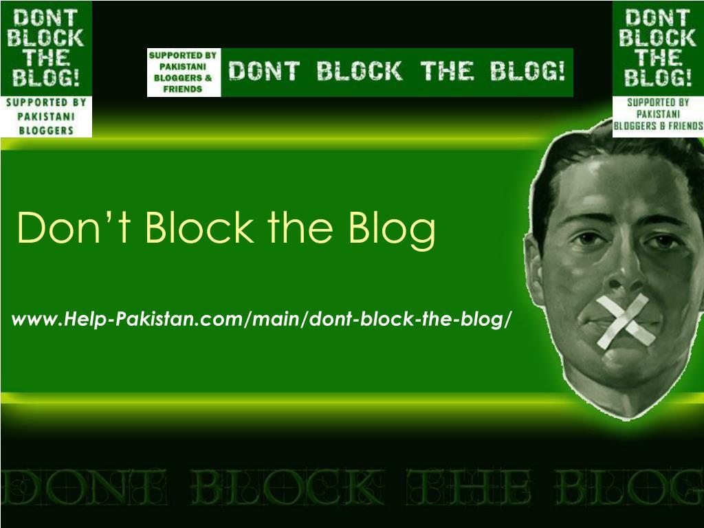 Don't Block the Blog