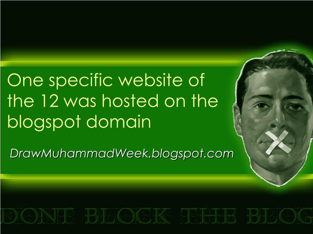 One specific website of the 12 was hosted on the blogspot domain