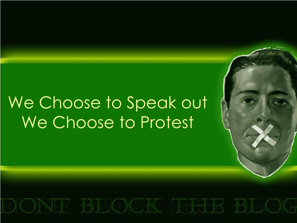 We Choose to Speak out