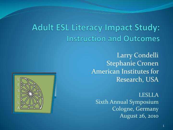 adult esl literacy impact study instruction and outcomes n.