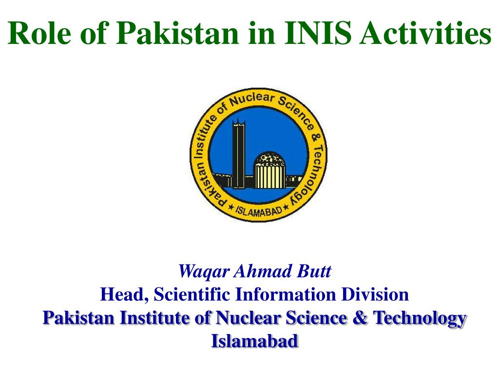 role of pakistan in inis activities l.