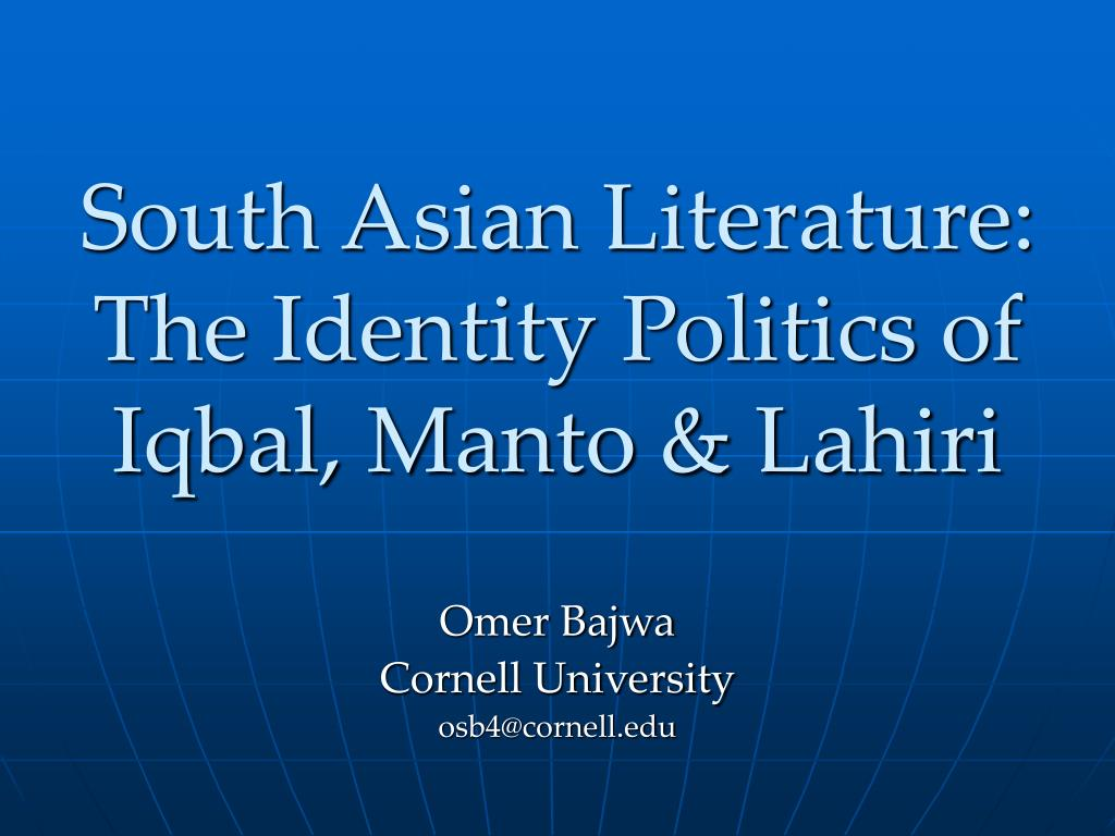 south asian literature the identity politics of iqbal manto lahiri l.