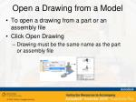 open a drawing from a model