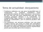 tema de actualidad donjuanismo