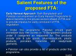 salient features of the proposed fta