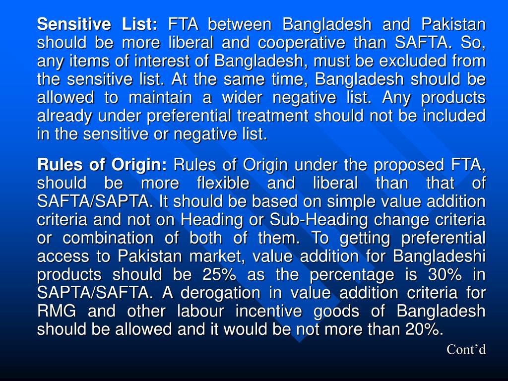 Sensitive List: