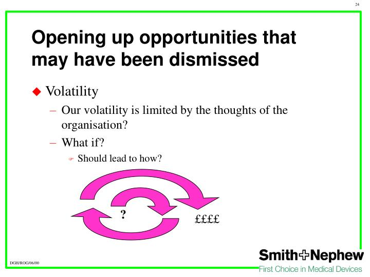 Opening up opportunities that may have been dismissed