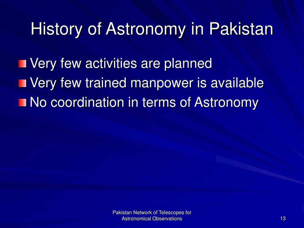 History of Astronomy in Pakistan